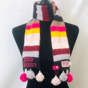 Juicy Couture Wool blend charm colorful scarf